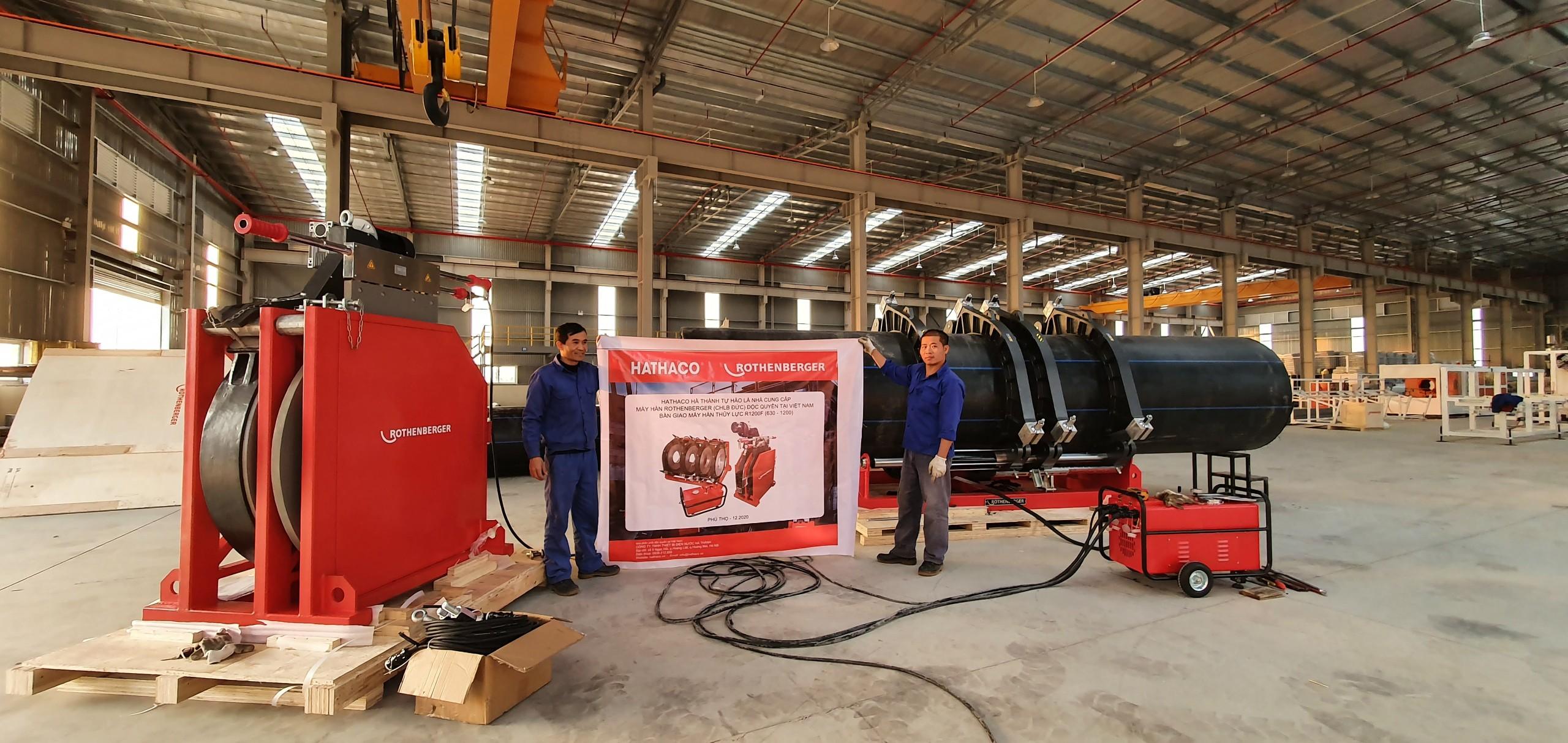 Bàn giao thành công máy hàn HDPE